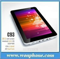 New 10inch android 4.0OS PC zenithink C93 dual core tablet PC