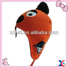 2013 cute knitted animal 100 earflaps
