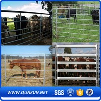 cheap wrought iron used horse fence panels/galvanized cattle fence /field fence