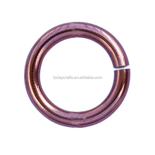 0.7*6mm large stock High quality metal colored jump rings