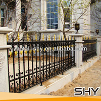 wrought iron main gate and steel fence finals wall design for homes
