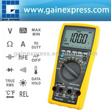 True RMS Manual / Auto Range Multimeter Industrial Gauge Meter Digital for Car Motor Drives 1000V AC/DC Volt /Amp/hFE /Diode