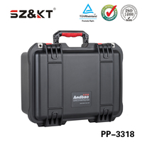 Waterproof high-impact plastic equipment case/instrument carrying high quality case with foam