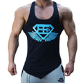 2018 New design Men's Fitness Gym Tanks Top Bodybuilding Workout Sleeveless Shirts Singlet