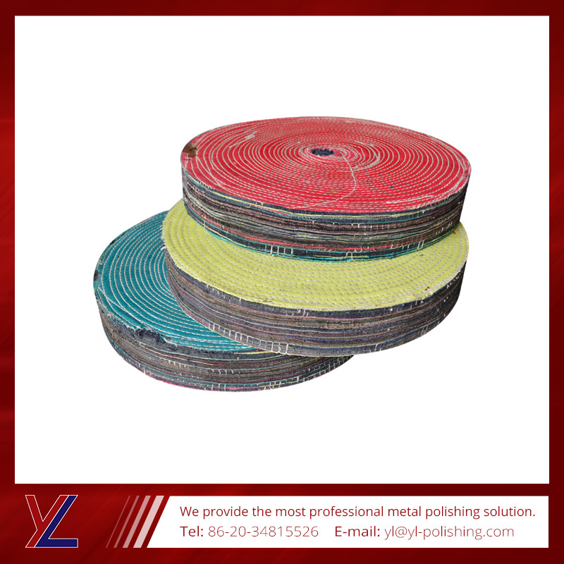 2015 China Best Selling motley cotton cloth wheel for fine polishing
