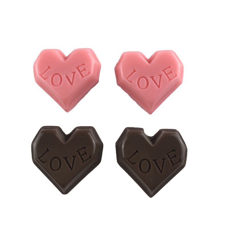 Hot Sale 23mm Kawaii Heart Love Cookie Cabochon Resins for Phone Decoration