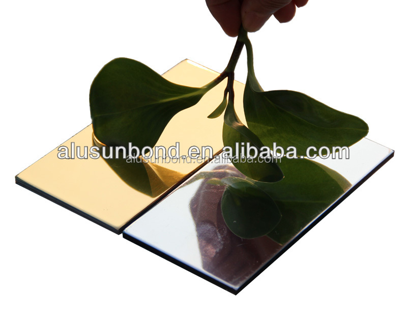 aluminium composite panel/aluminum foil faced mdf for kitchen furniture/decorative wall panel