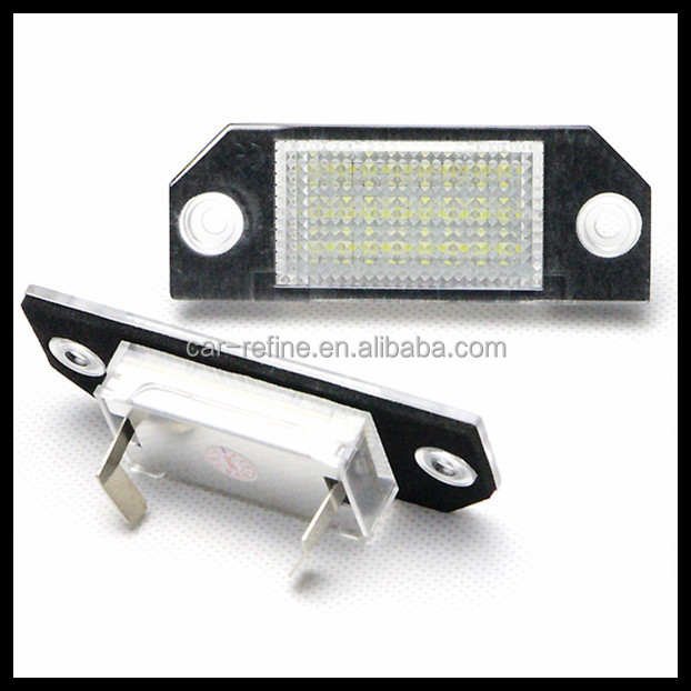 china wholesale market agents 12V led license plate lamp for fo.rd fo.cus mk2 c-max led number plate light