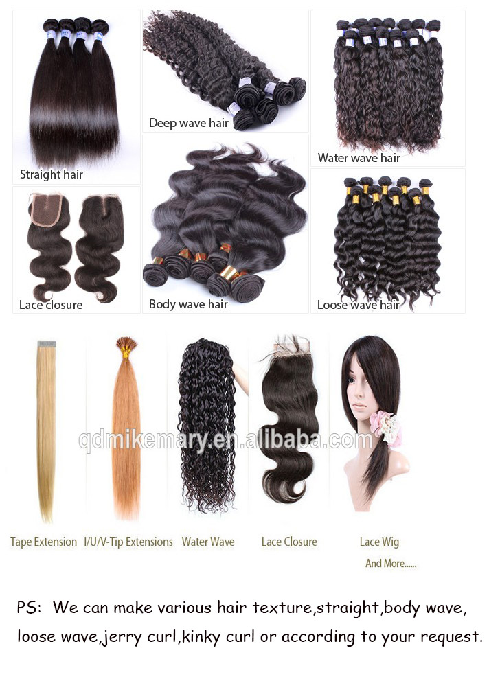 Most popular can be wash hair peruvian human hair extension