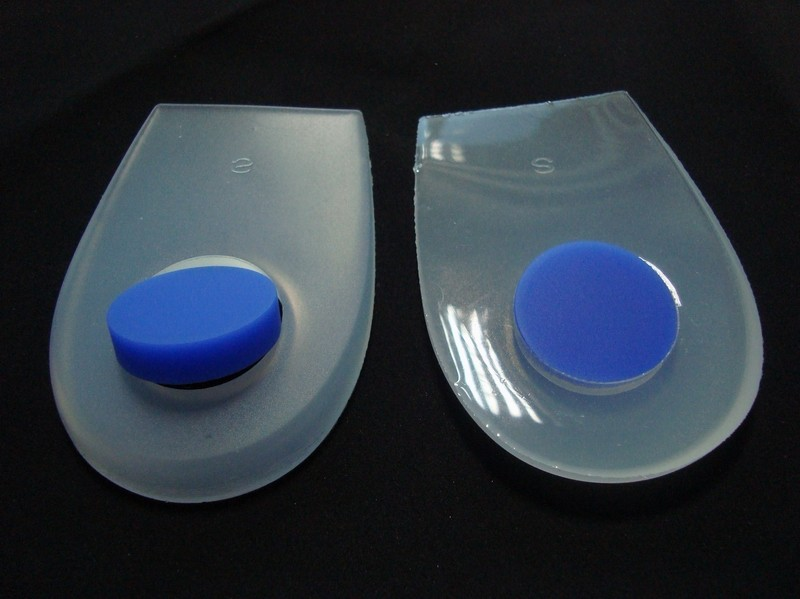 Double Color Silicone Gel Heel Pad With Removable Spur
