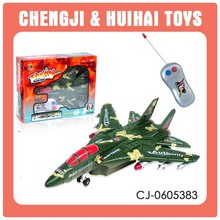 Hot selling KIDS 2 channel plastic rc toy jet airplane with lights