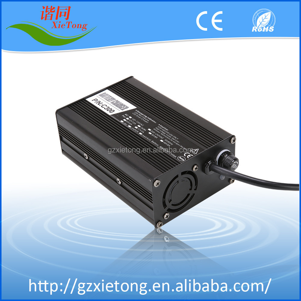 C-300 72V2.5A LiFePO4/Lithium Ion/Lead Acid Battery Charger For Electric Motorcycle With ROHS