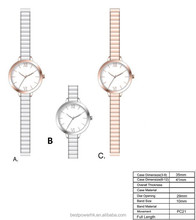 Fashion fancy ladies leather wrist watches for women