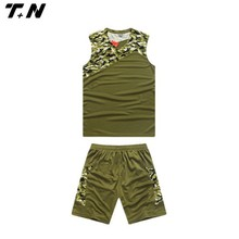 new style design camo basketball jersey/uniforms for women