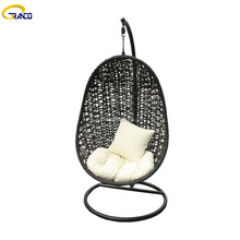 Hot New Products Garden Swing Rattan Hanging Wicker Egg Chair for Outdoor