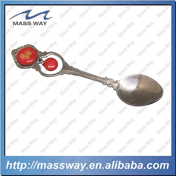 flat stainless steel measuring spoon