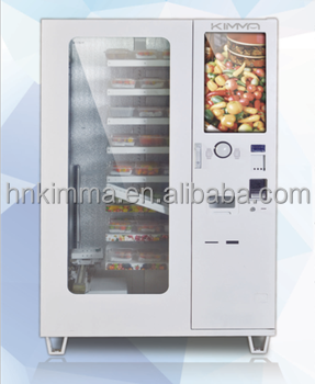 Cervelat pizza packed food vending machine with LCD advertising screen