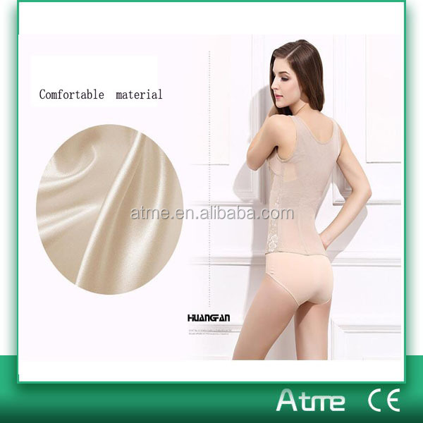 Nude Ladies Waist Training Corset Slimming Cincher Girdle Ultra Slim Body Shaper Shapewear Fabric