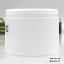 350ml 12 oz plastic pp jar for cosmetics powder
