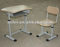 Adjustable desk and chair New style school furniture /high quality desk and chair /econormic classroom desk and chair