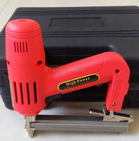 1500w 1013J Lower Noise Handheld Electric Floor Brad Nailer Crown Stapler Portable Electric Nail Gun