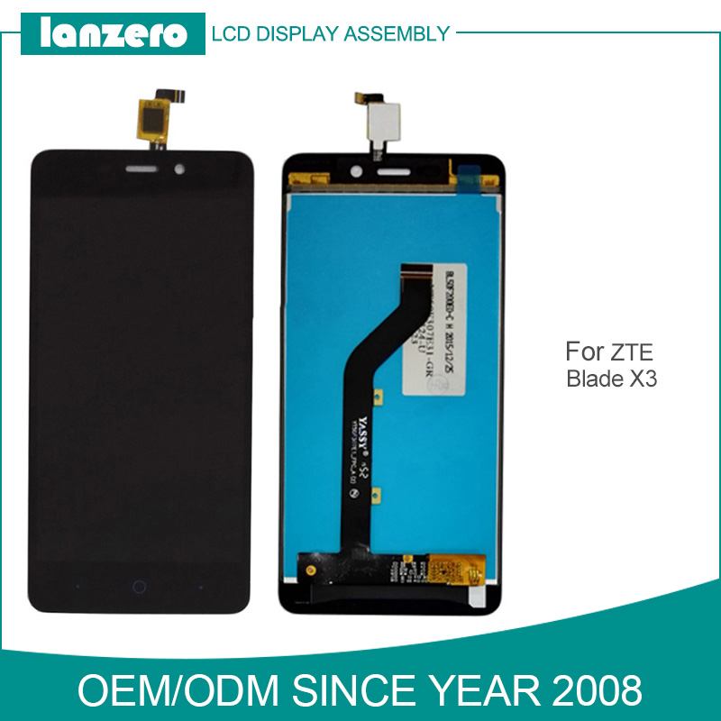 White/Black for ZTE Blade X3 LCD Digitizer with Touch Panel for ZTE X3 D2 A452