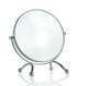 Small Size Round Metal Framed Countertop Standing Swivel Makeup Mirror For Journey Trip