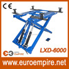 2700kg/6000lb double cylinder hydraulic electric portable mid rise auto scissor lift