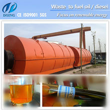 10 tons new design black engine oil to diesel oil machine