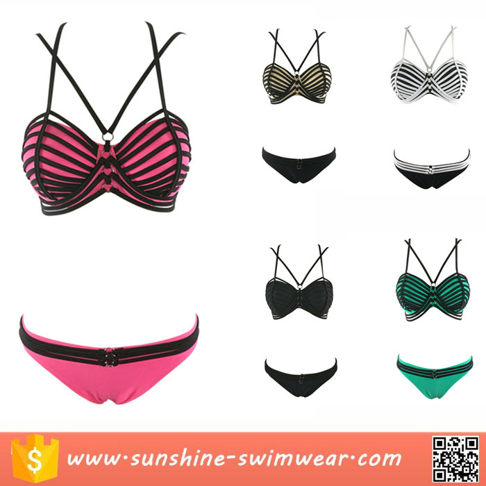 Various Color Cami Bralette Cutout String Bikini