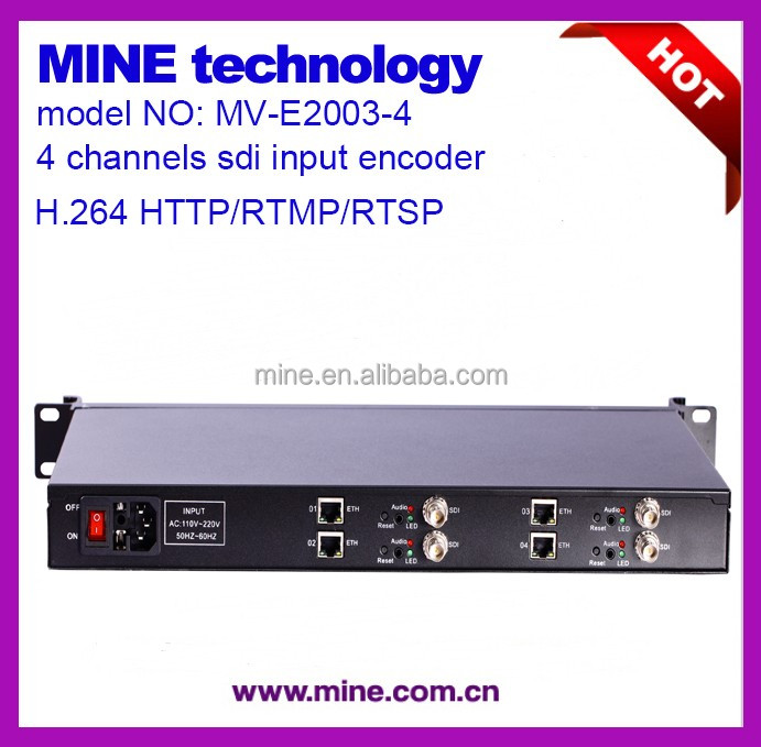 Digital Tv Broadcasting Equipment 4 Channel Mpeg-2 Sd Encoder/dvb To Ip Encoder
