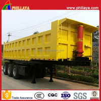 Widely Used Back Dump Trailers/Mining Material Transport End Tipper Tipping Semi-Trailer