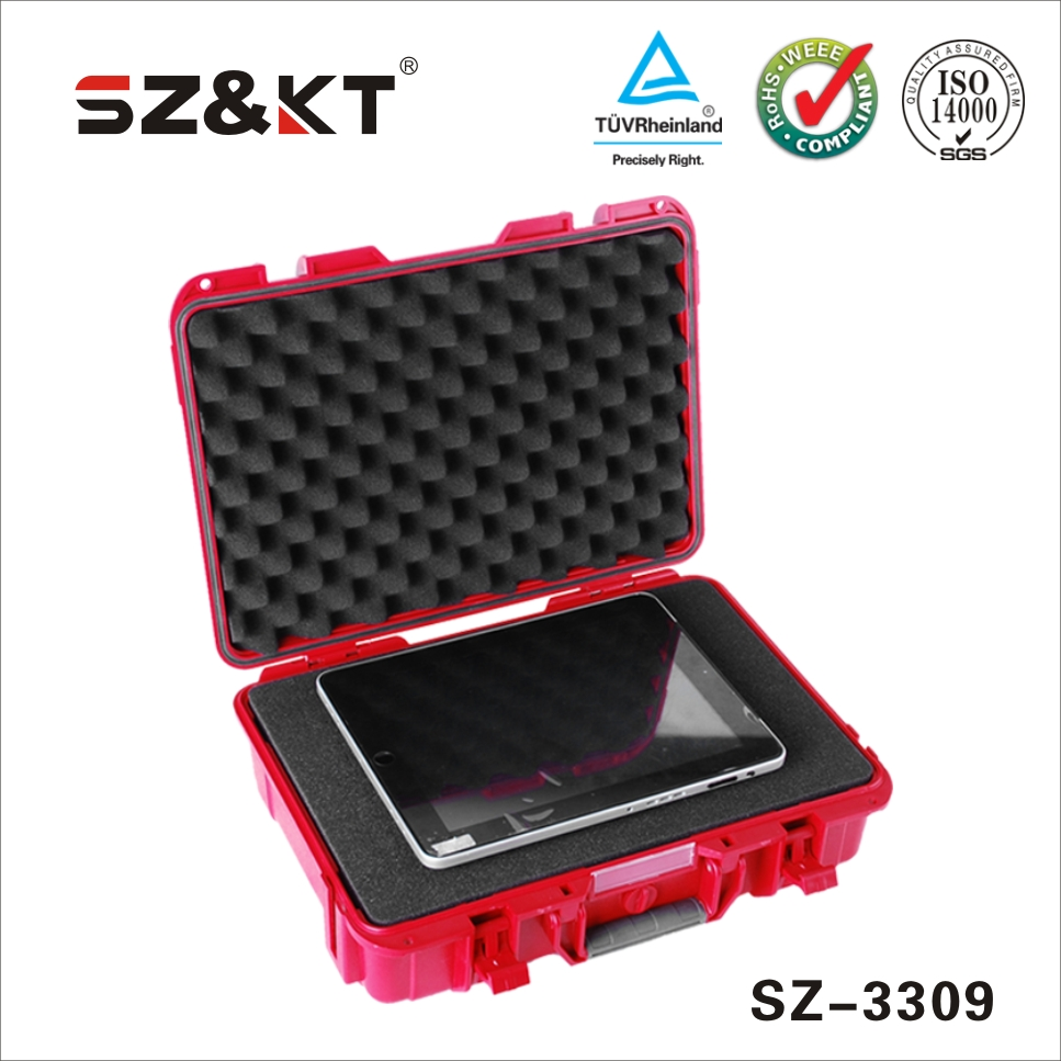 waterproof durable hard protective laptop case with sheet foam