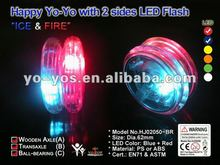 HJ's High Quality Wooden Axle LED Light JOJO YOYO 2 Sides