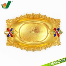 Gold & Silver adornment electroplate beautiful tray