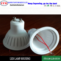 Gu10 led lamp plastic housing and parts