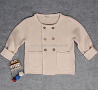 d60539h 2016 new winter boys' girl's double breasted round neck cardigan sweater cotton children's warm and comfortable sweater