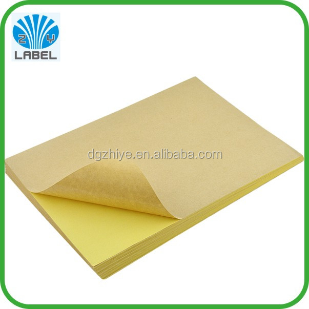 office computer print kraft paper A4 labels, laser inkjet spray printing adhesive a4 label