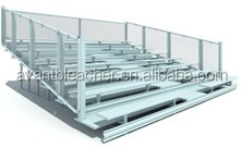 Hot Galvanized permanent structure soccer ball game bleachers for race track