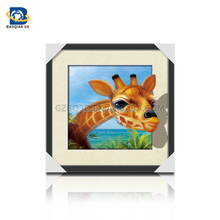 3D,5D lenticular picture, 3D flip picture with animals ,wall Art Decor with frame