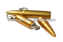 Gold bullet shape thump drives 4gb