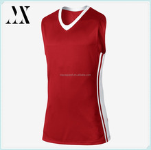 Slim Fit Lightweight Breathable Dry Fit Fabric Deep V Neck Side Panels Men's Basketball Jersey
