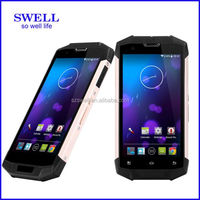 "swell IP68 5.0"" IPS Camera 13.0mp MTK8732 Quad Core dual band wifi 5.0ghz 4G lte CONQUEST S6 rugged android phone with nfc"