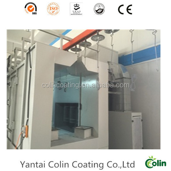 Quality V- Wheel Gate coating line with cyclone recovery system