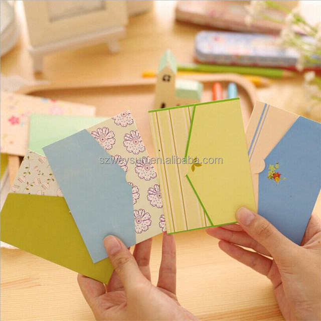 Folding greeting card thank you card birthday christmas card envelope writing paper stationery 6pcs/set DHL freeshipping