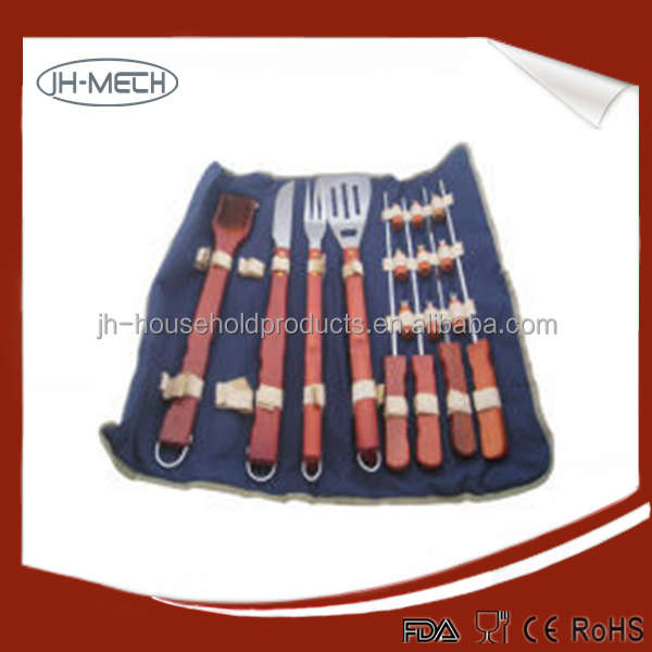 Stainless Steel 6 Piece Stainless Steel BBQ Tool Gift Set New