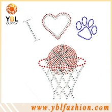 love basketball design rhinestone miami hot sale 2015