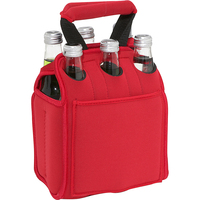 Six Pack insulated bottle beer water can custom Neoprene cooler Tote bag