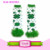 Baby St Patricks Day leggings Wholesale Baby Cotton Leg warmers Cute Baby Leg Warmers Green Striped Knitted Leg Warmer For Kids