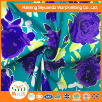2016 Spandex fabric for woman clothing textile printing